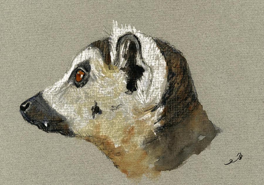 Lemur Painting - Lemur Head Study by Juan  Bosco