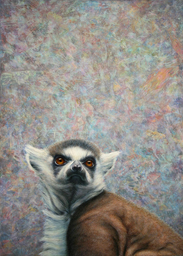 Lemur Painting - Lemur by James W Johnson