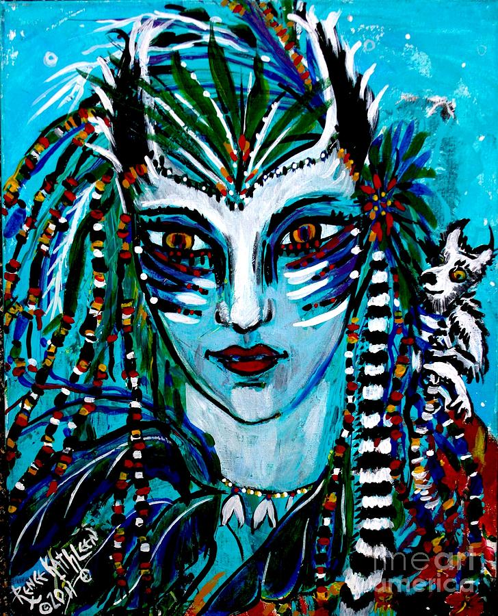 Shaman Painting - Lemuria by Kath MoonArts
