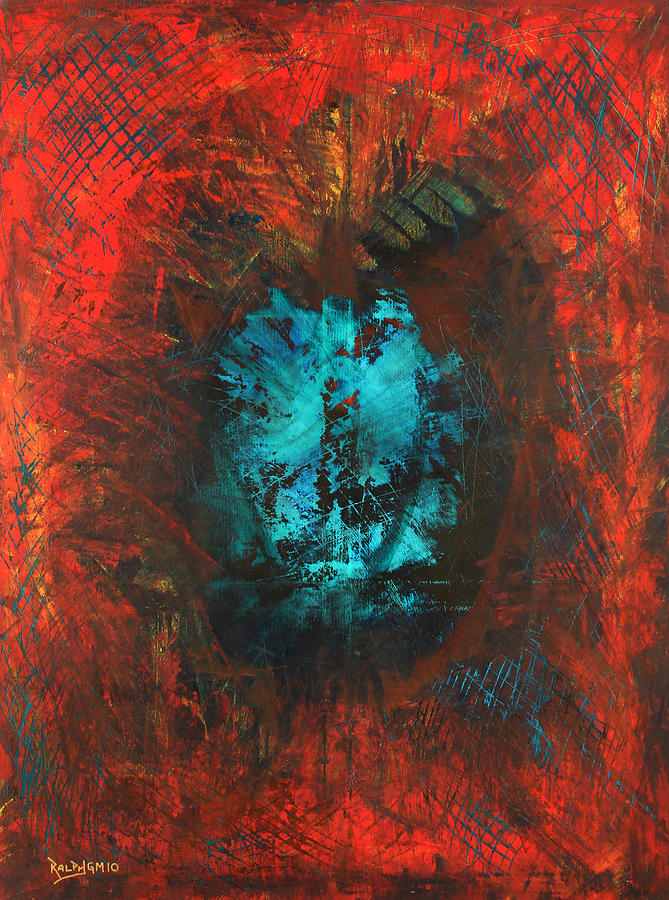 Red Painting - Lemurian Fire Cave 2010 by RalphGM