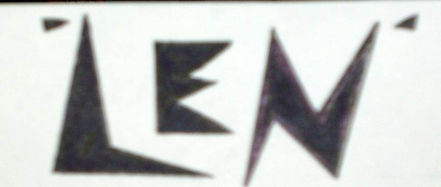 Len Logo Drawing by Lenny J  Cota Jr