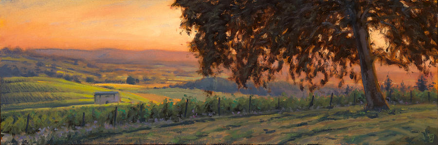 Vineyard Painting - Lenne Vineyard by Michael Orwick