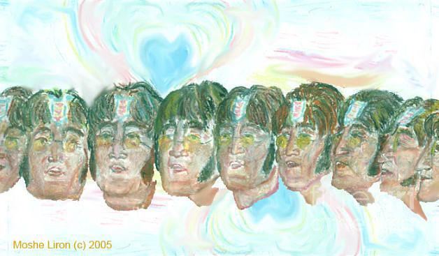 Mallard Drawing - Lennon 1967 by Moshe Liron