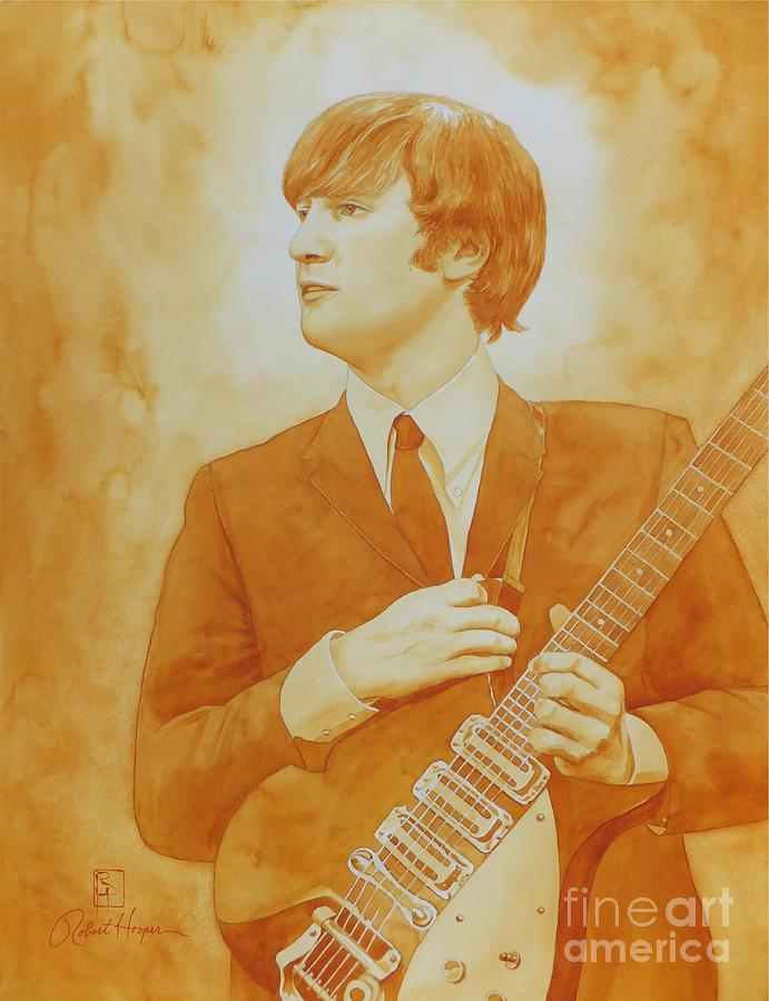 Watercolor Painting - Lennon Gold by Robert Hooper