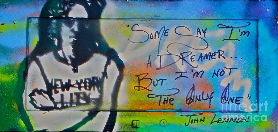 Graffiti Painting - Lennon The Dreamer by Tony B Conscious