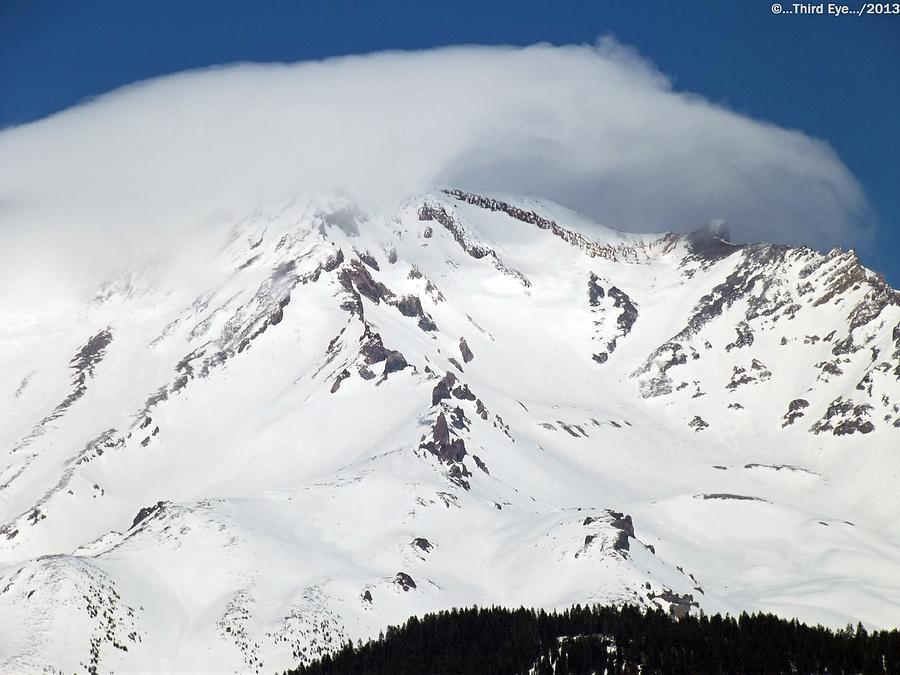 Mt.shasta Photograph - Lenticular... by Gary Rathjen
