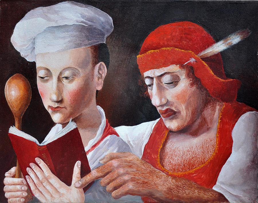 Bible Painting - Lentil Pottage by Nekoda  Singer