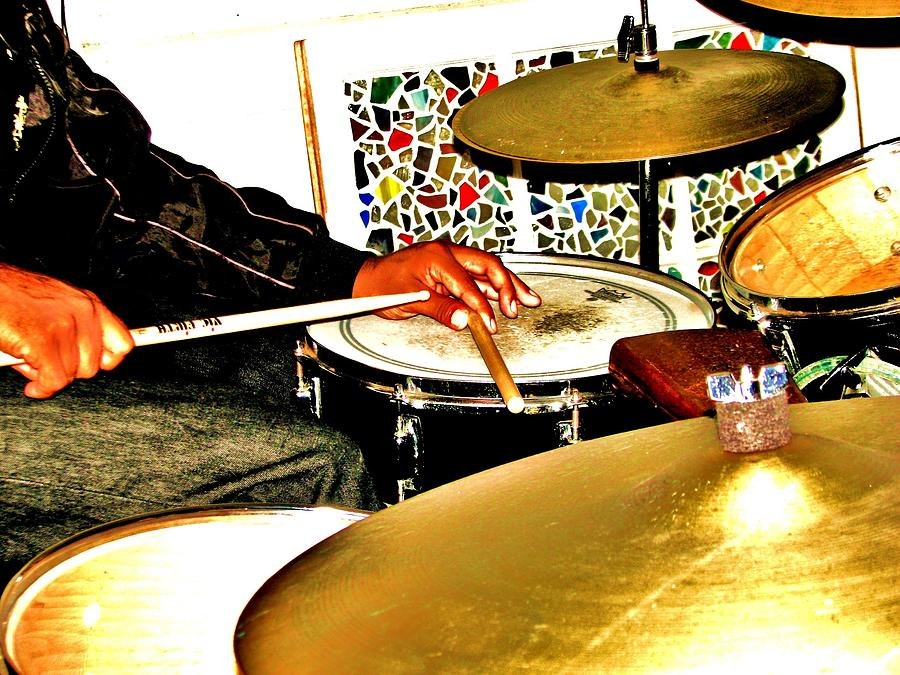 Drummer Photograph - Leo Drumming by Cleaster Cotton