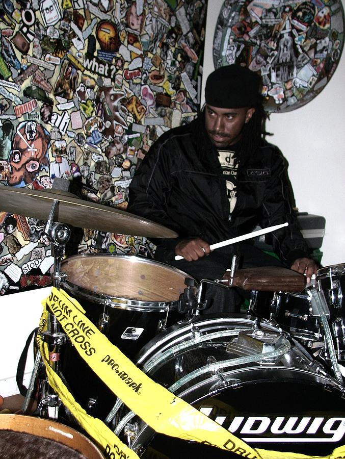 Drummer Photograph - Leo Fierce On Drums by Cleaster Cotton