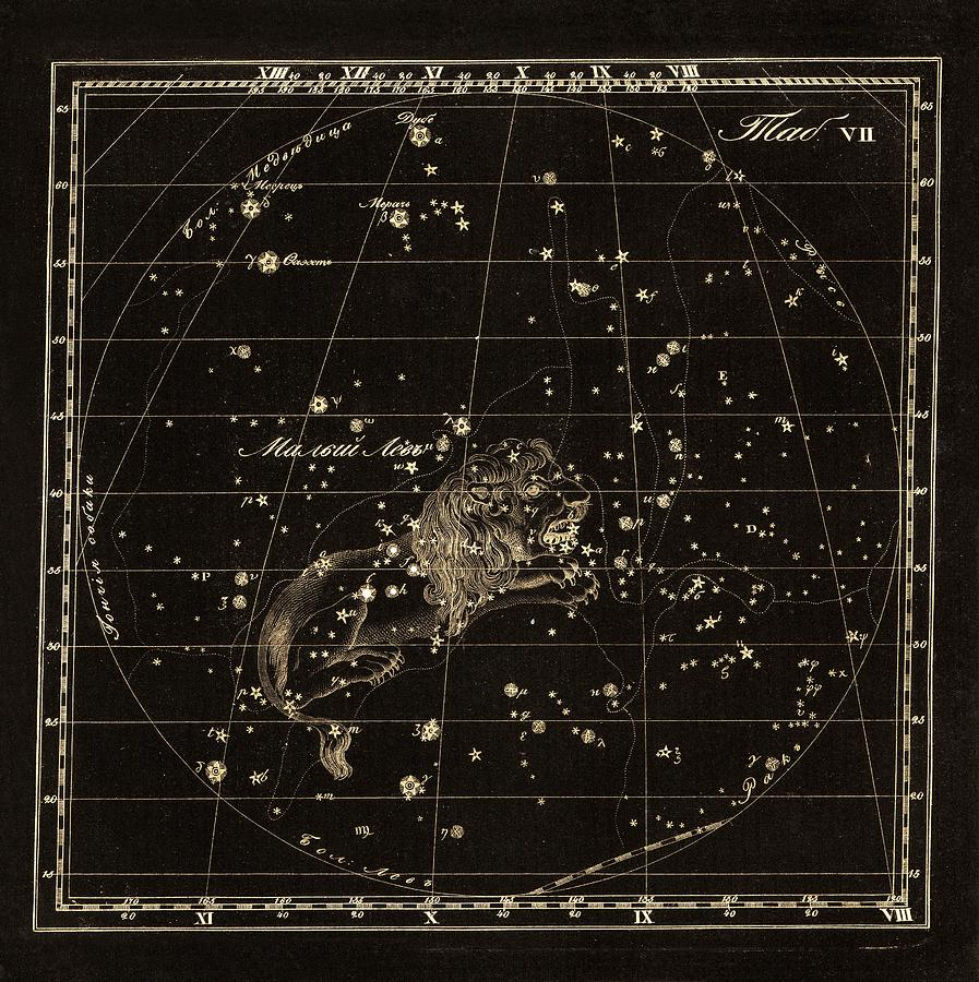 Star Photograph - Leo Minor Constellation, 1829 by Science Photo Library