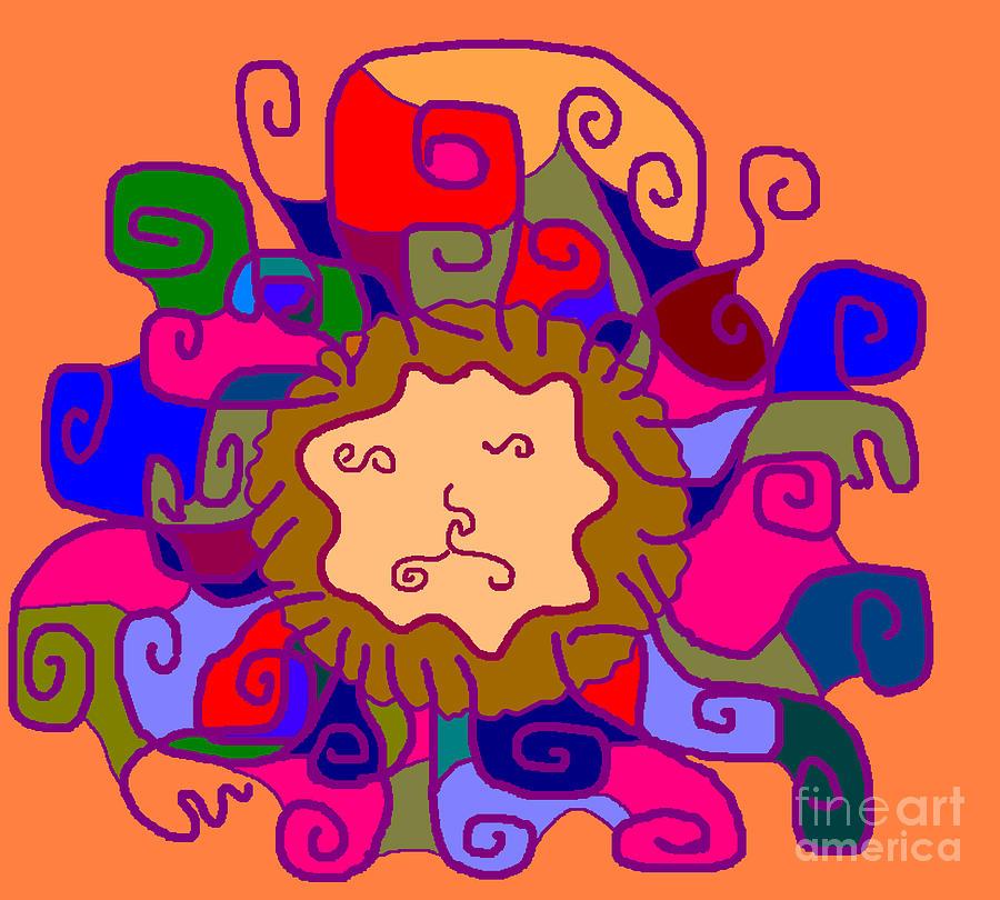 Leo Digital Art - Leo1 by Meenal C
