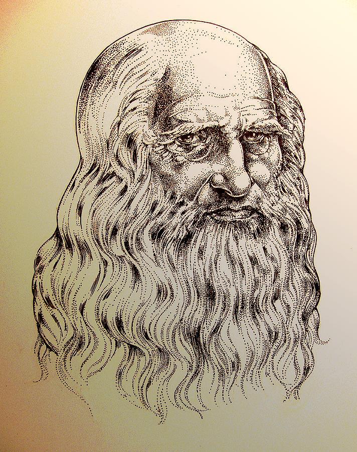 Da Vinci Drawing - Leonardo Da Vinci by Derrick Higgins