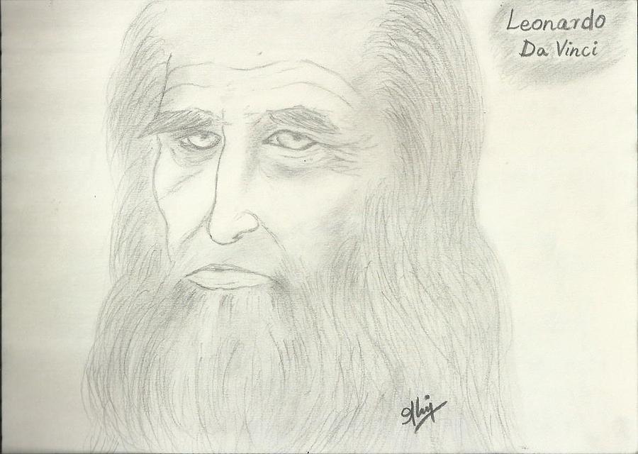 Leonardo Da Vinci Digital Art - Leonardo Da Vinci by Saleem Baig