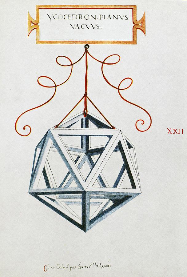 Da Vinci Drawing - Leonardo Icosahedron by Granger