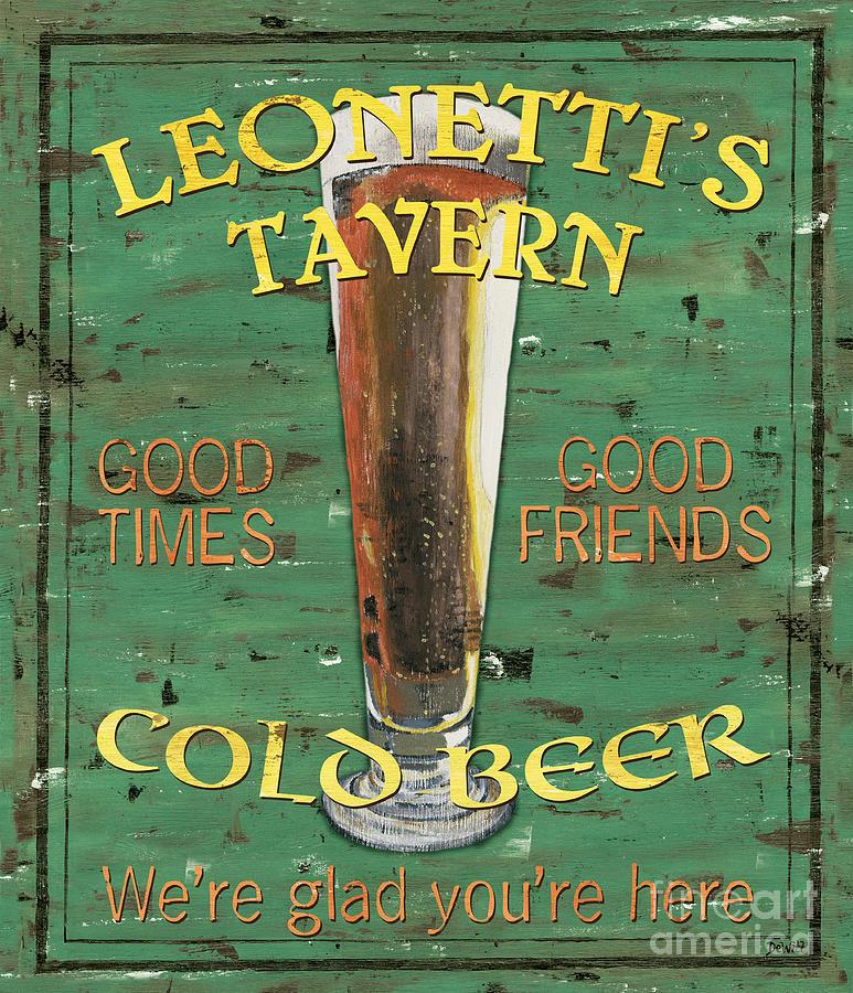 Tavern Painting - Leonettis Tavern by Debbie DeWitt