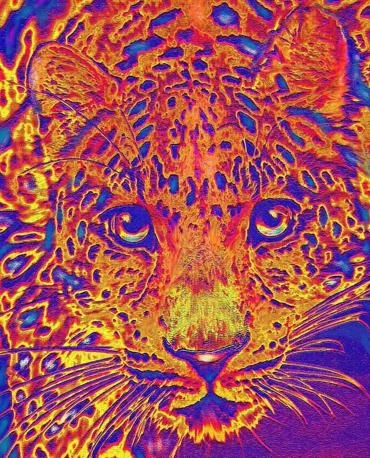 12b3d2112e63 Leopard Digital Art - Leopard Eyes Orange by Jane Schnetlage