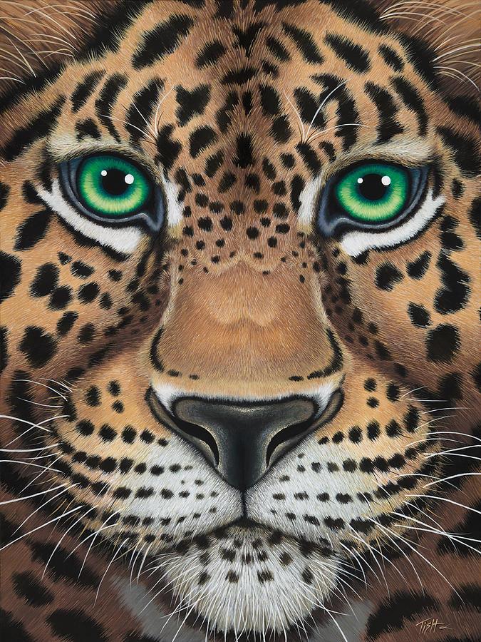 Wild Eyes Leopard face by Tish Wynne