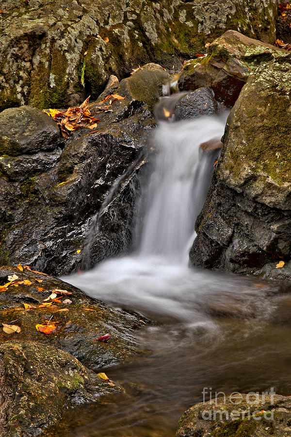 Fall Photograph - Lepetit Waterfall by Susan Candelario