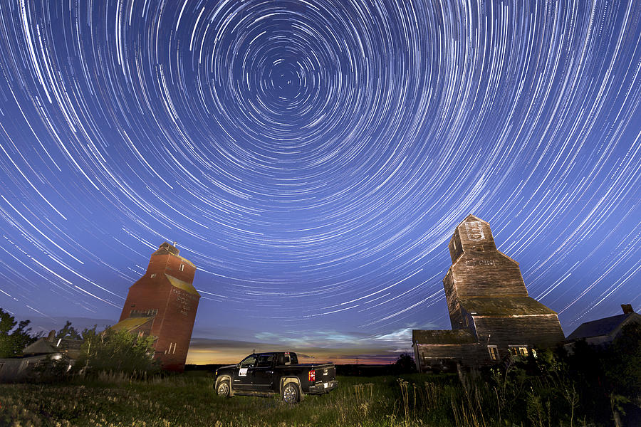 Abandon Photograph - Lepine Star Trails by Gerald Murray Photography