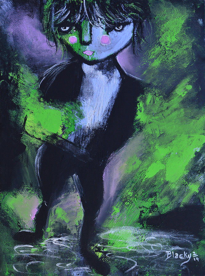 Leprechaun Painting - Leprechaun by Donna Blackhall