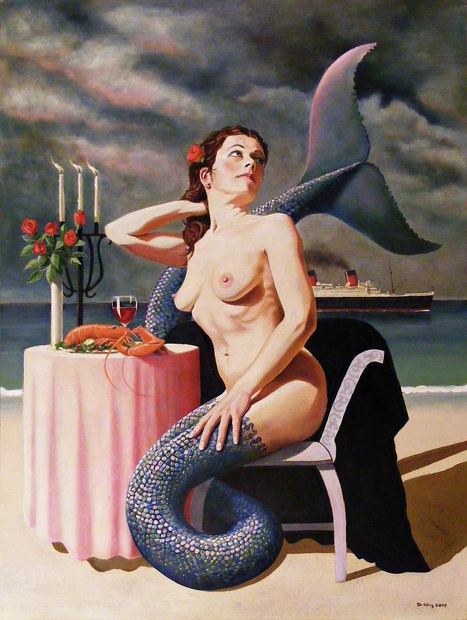 Mermaid Painting - Les Fruits De La Mer by Jo King