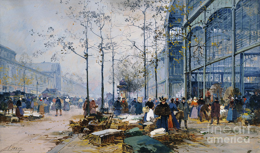 Les Halles Paris Painting By Jacques Lieven