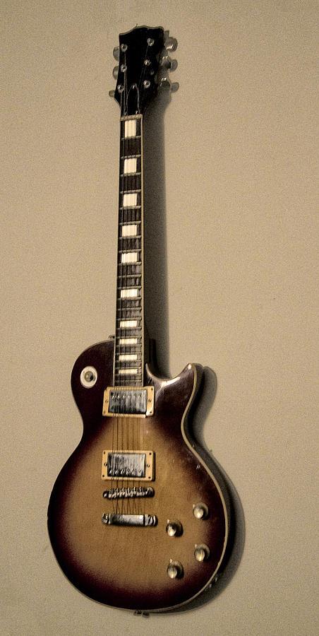 Les Paul Electric Guitar Photograph - Les Paul Electric Guitar by Bill Cannon