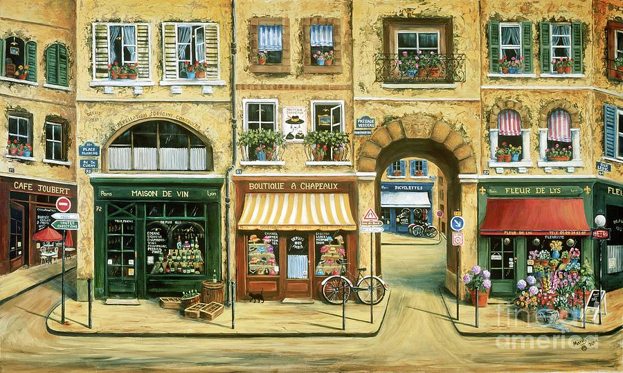 Les Rues De Paris Painting By Marilyn Dunlap