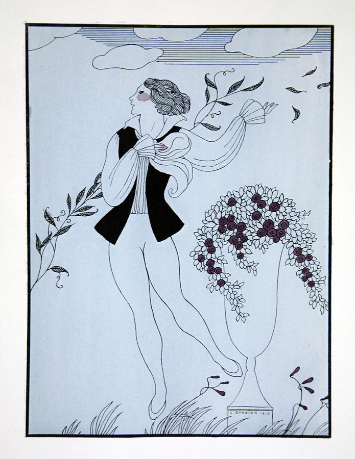 Ballet Painting - Les Sylphides by Georges Barbier