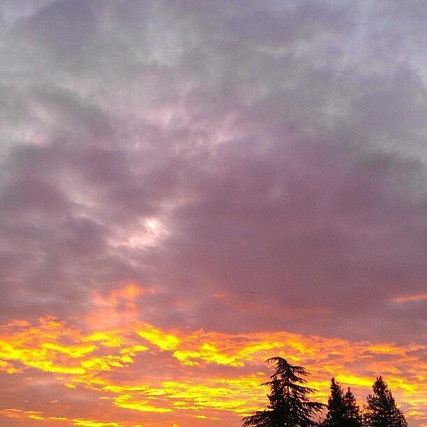 Sunrise Photograph - Les Trois Soeurs by CML Brown