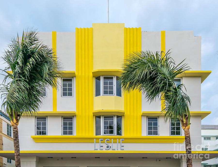 1920s Photograph - Leslie Hotel South Beach Miami Art Deco Detail 3 by Ian Monk