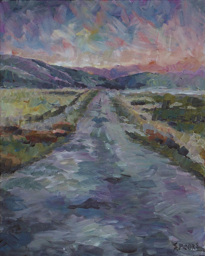 Landscape Painting - Less Travelled by Susan Moore
