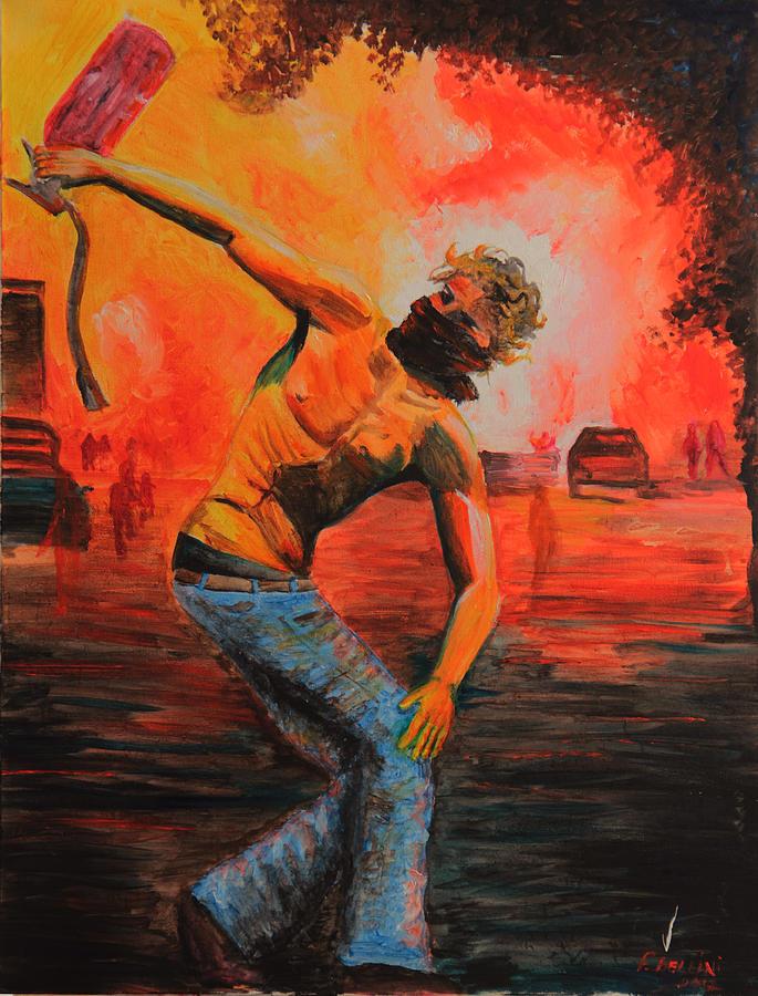 Riots Painting - Lestintobolo by Francesca Bellini