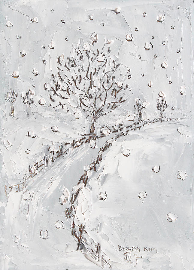 Snow Painting - Let It Snow by Becky Kim