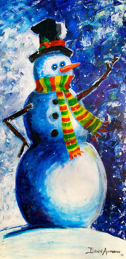 Let It Snow Painting by Dawn Aumann