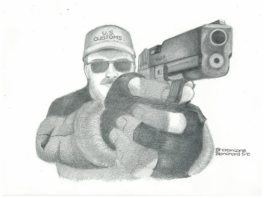 Arrest Drawing - Let Me See Your Hands by Sharon Blanchard