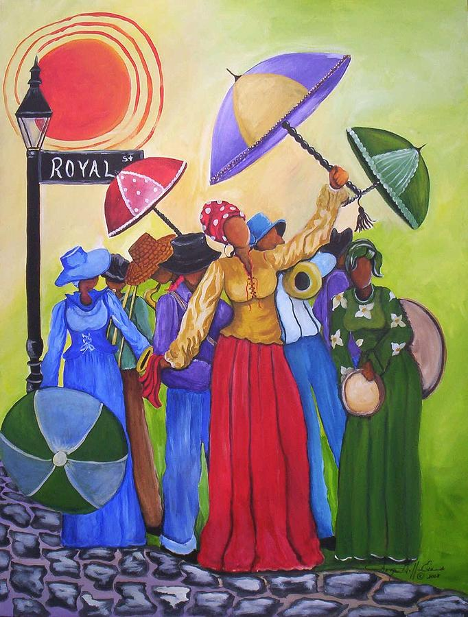 Louisiana Painting - Let The Good Times Roll by Sonja Griffin Evans