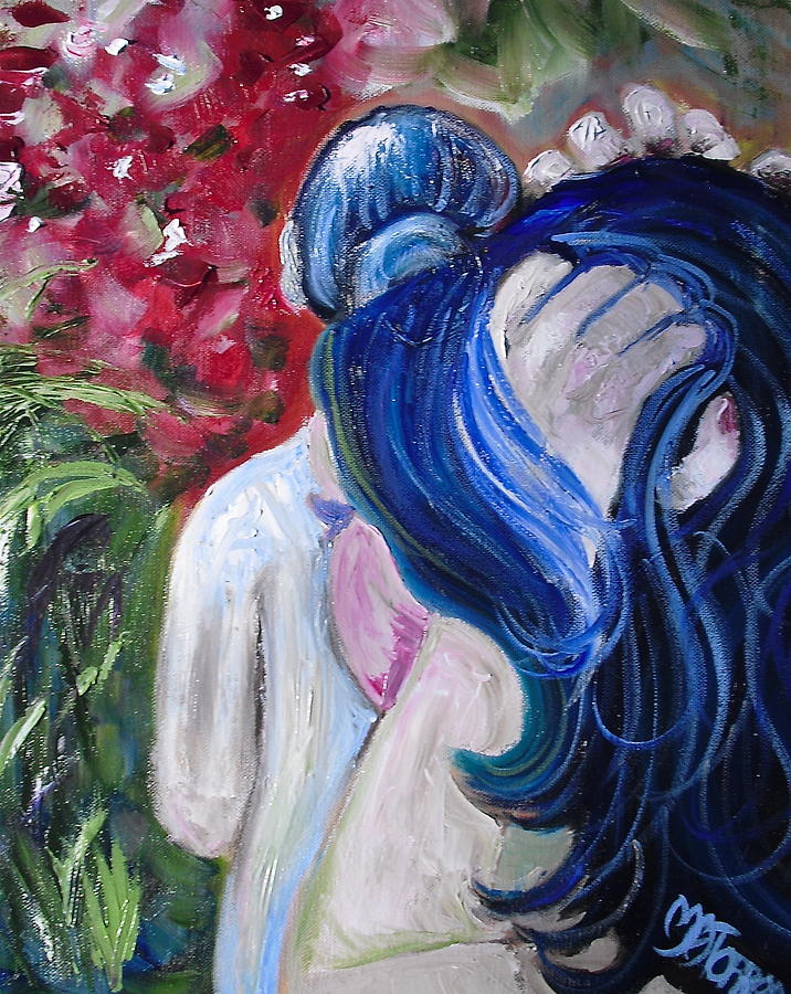 Abstract Painting - Let Your Hair Down by Melissa Torres