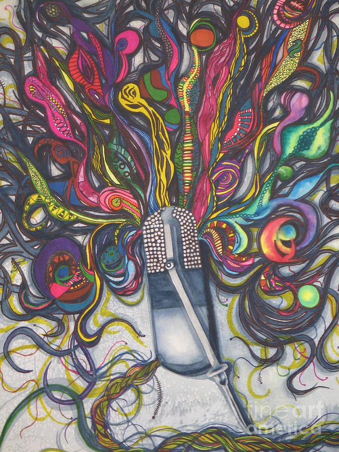 Designs Painting - Let Your Music Flow In Harmony by Chrisann Ellis