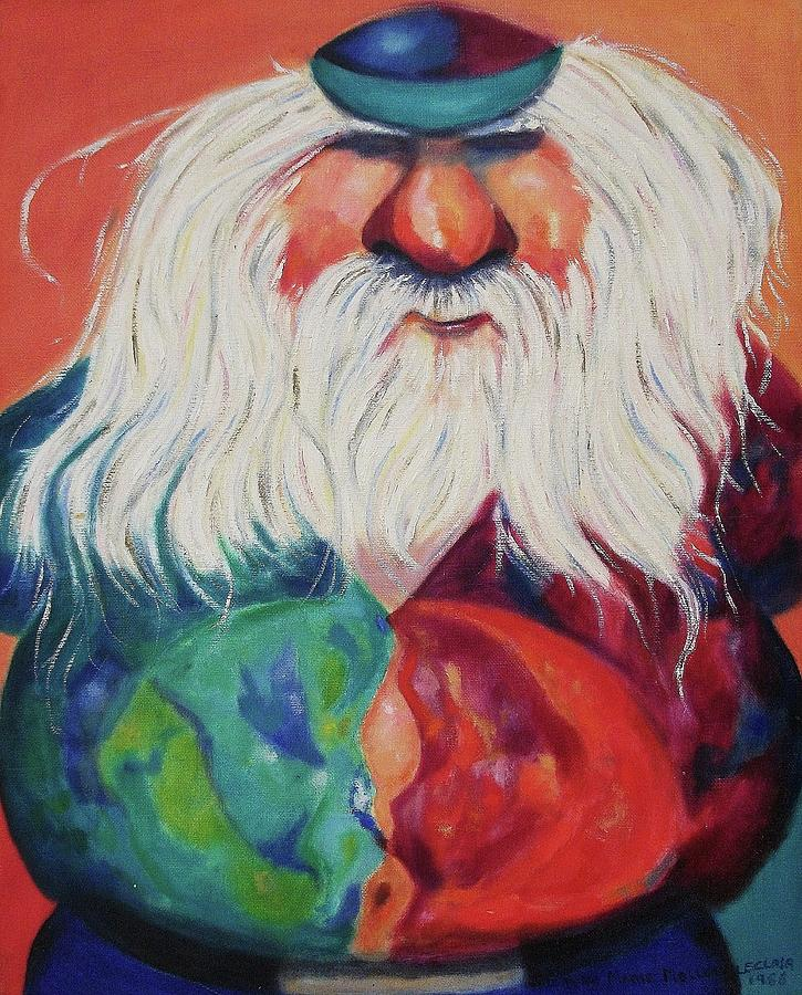 Old Man Painting - Lets Boogey by Suzanne  Marie Leclair