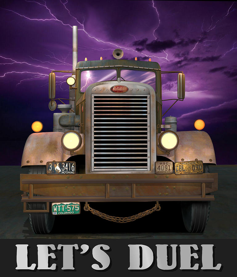 Peterbilt Digital Art - Lets Duel by Stuart Swartz