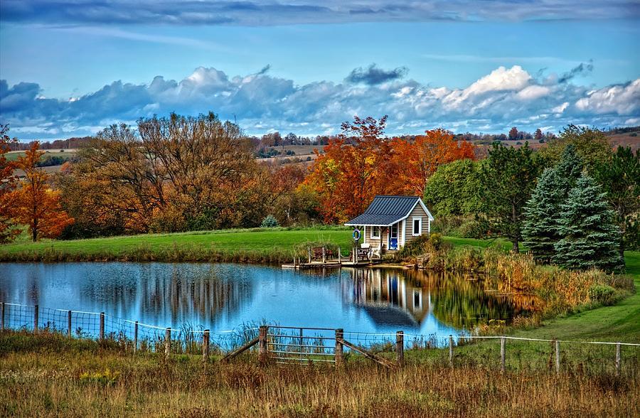 Blue Sky Digital Art - Lets Go Fishing by Jeff S PhotoArt