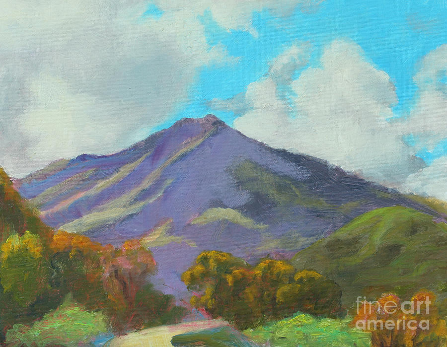 Mountain Painting - Lets Go by Karen Burkland