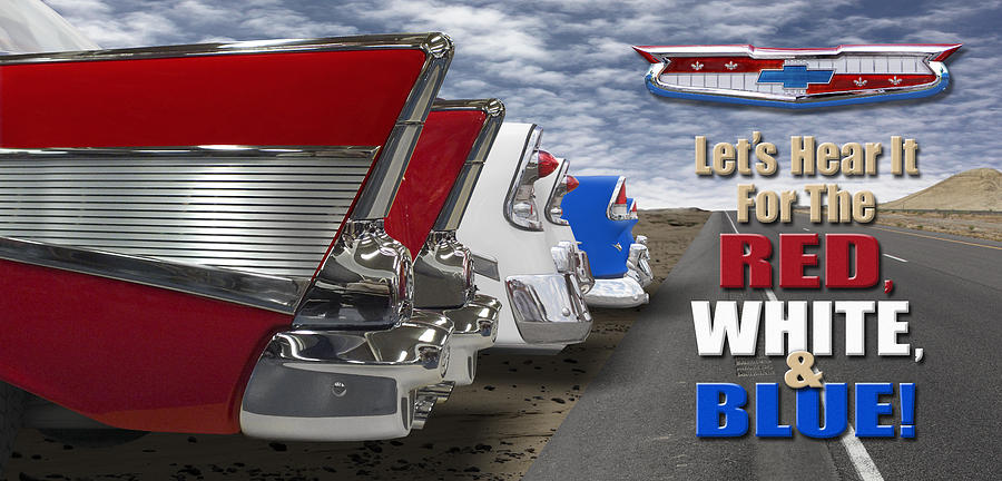 Transportation Photograph - Lets Hear it For The Red White and Blue by Mike McGlothlen