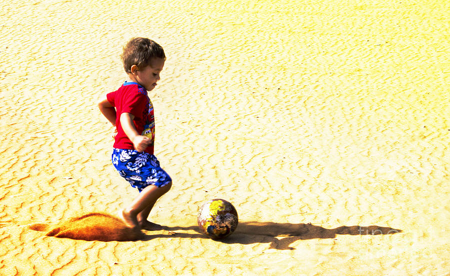 Soccer Photograph - Lets Play by Angel Martinez