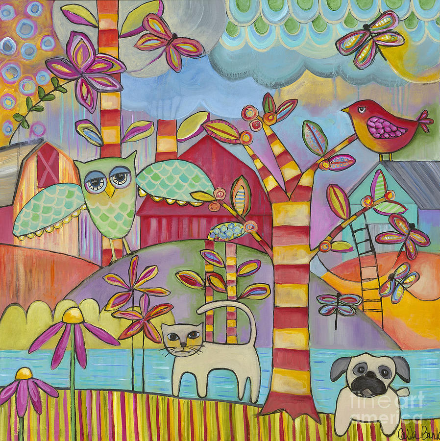 Bird Painting - Lets Play by Carla Bank