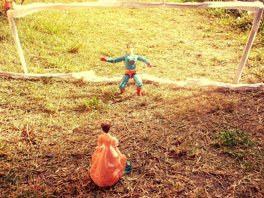 Funny Photograph - Lets Play Football Together by Trav Shadows