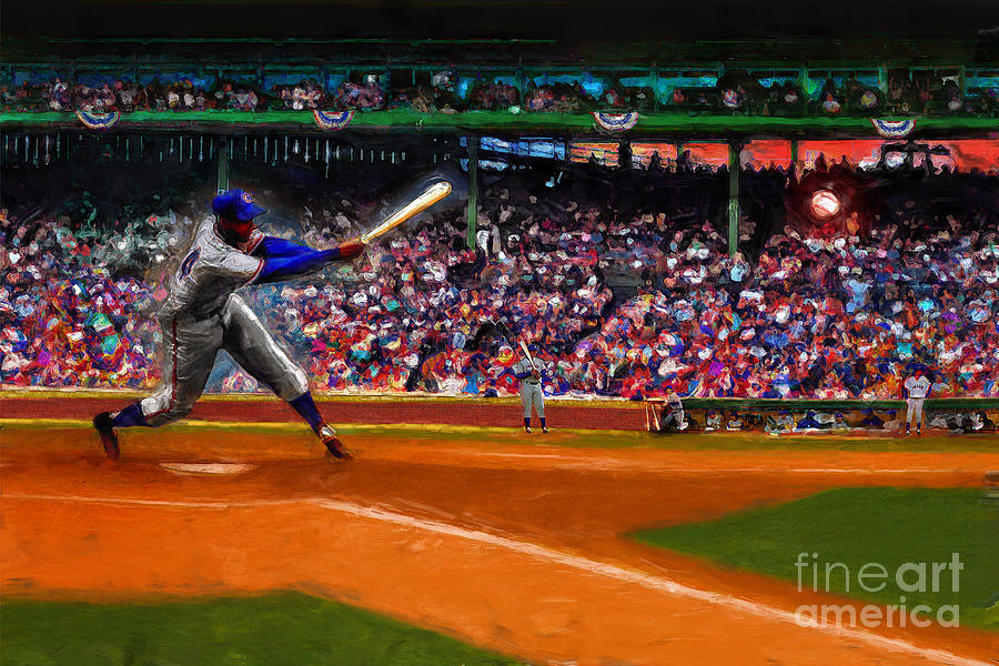 Cubs Digital Art - Lets Play Two by Alan Greene