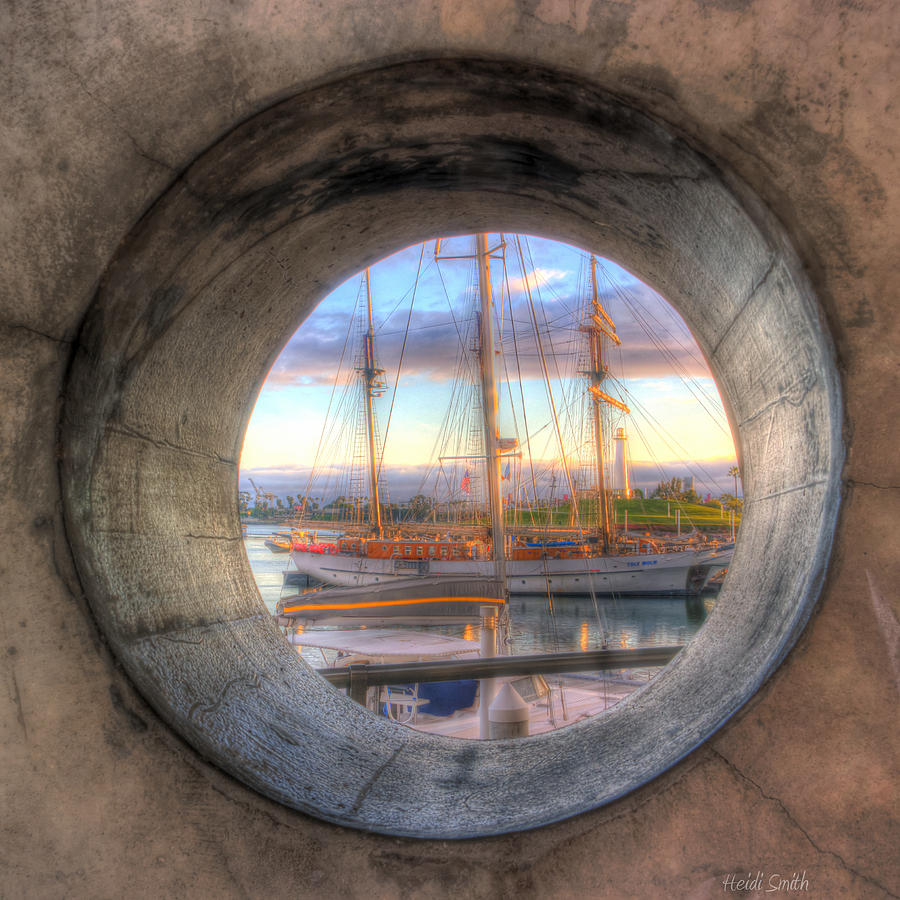 Aged Photograph - Lets Pretend Its A Porthole by Heidi Smith
