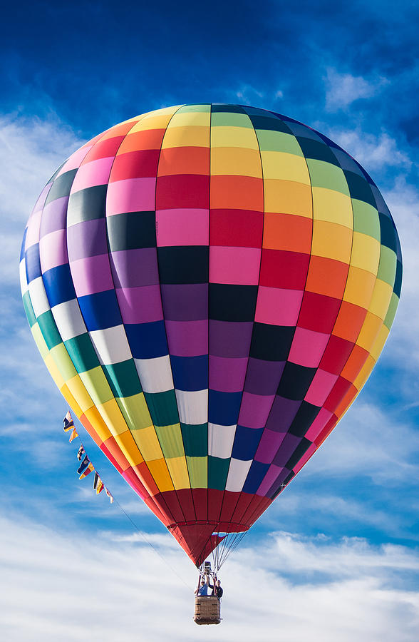 Hot Air Balloon Photograph - Lets Take A Ride by Parker Cunningham